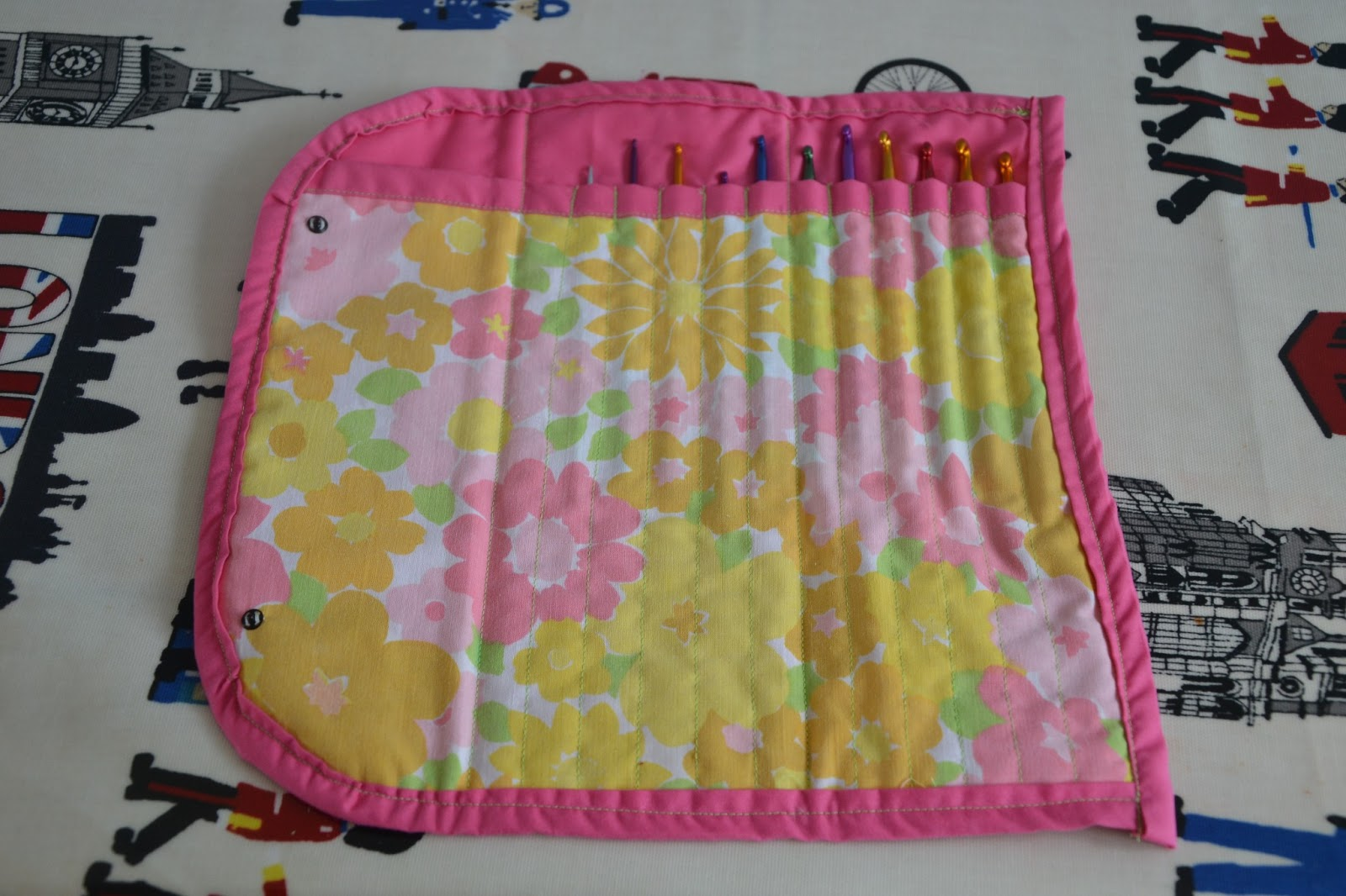 Make A Quilted Tunisian Crochet Hook Holder