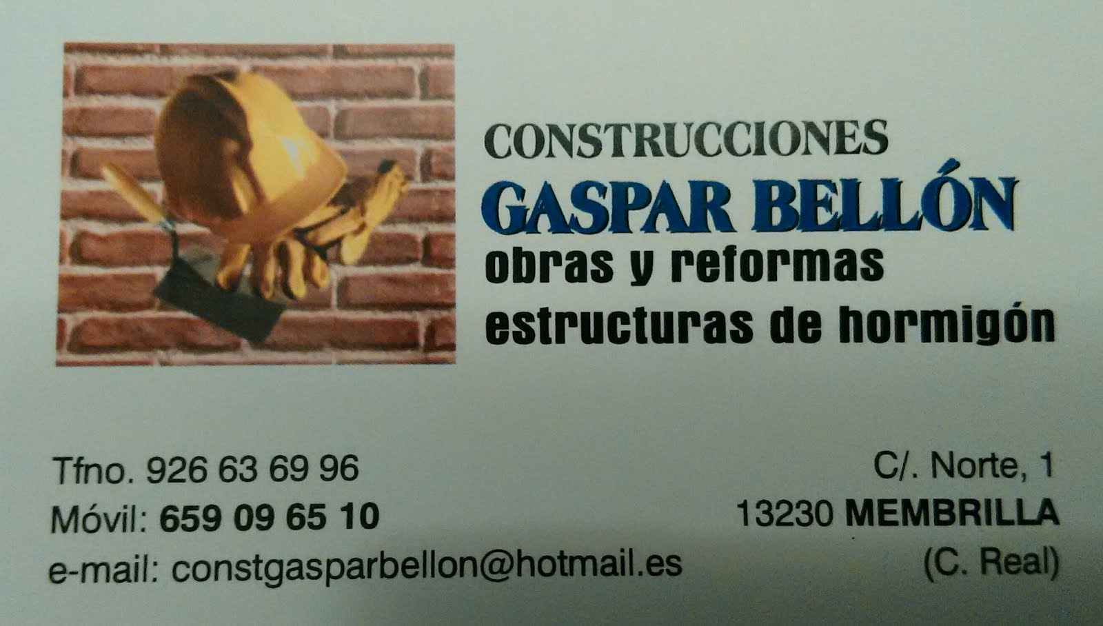 CONSTRUCCIONES GASPAR BELLÓN