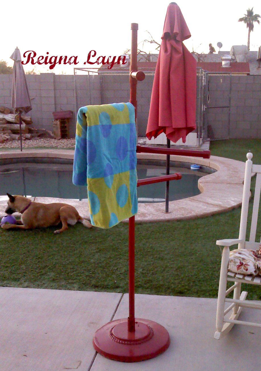 Reigna Layn Frontgate Pool Towel Stand Knockoff