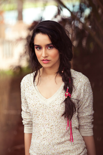 Shraddha Kapoor Long Side Braided Ponytail Hairstyle