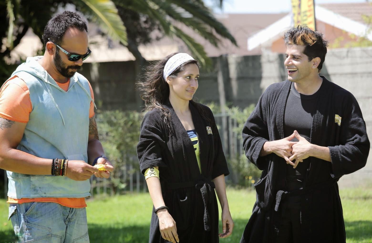 Karanvir and Teejay  before their first stunt