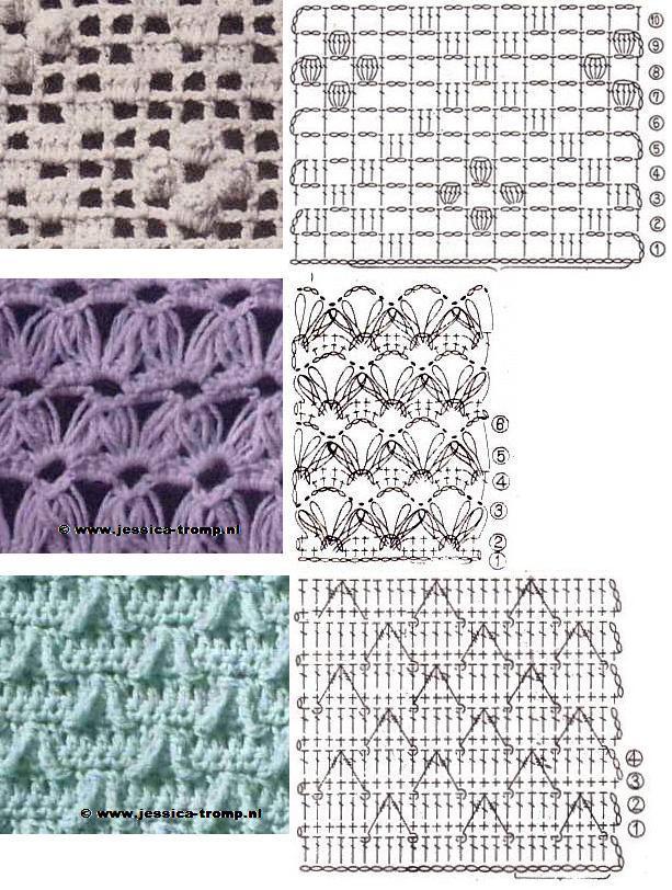 Crochet Stitches In Pdf : Il blog di Vera Maglia&Uncinetto: tanti schemi punti uncinetto