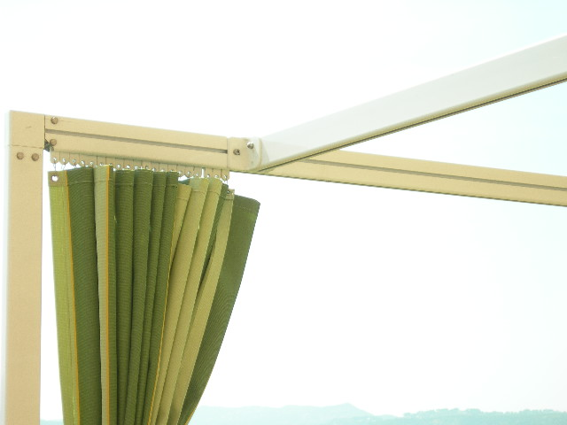 Toldos campos toldo corredero con cortina - Cortinas para el sol ...