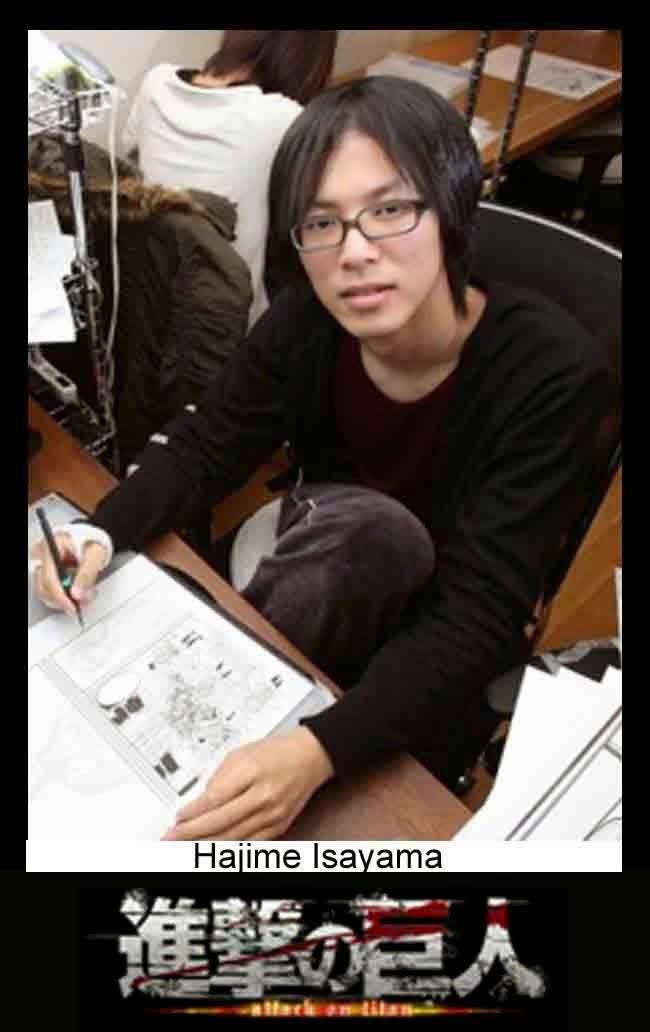 foto Hajime Isayama pengarang Attack On Titan