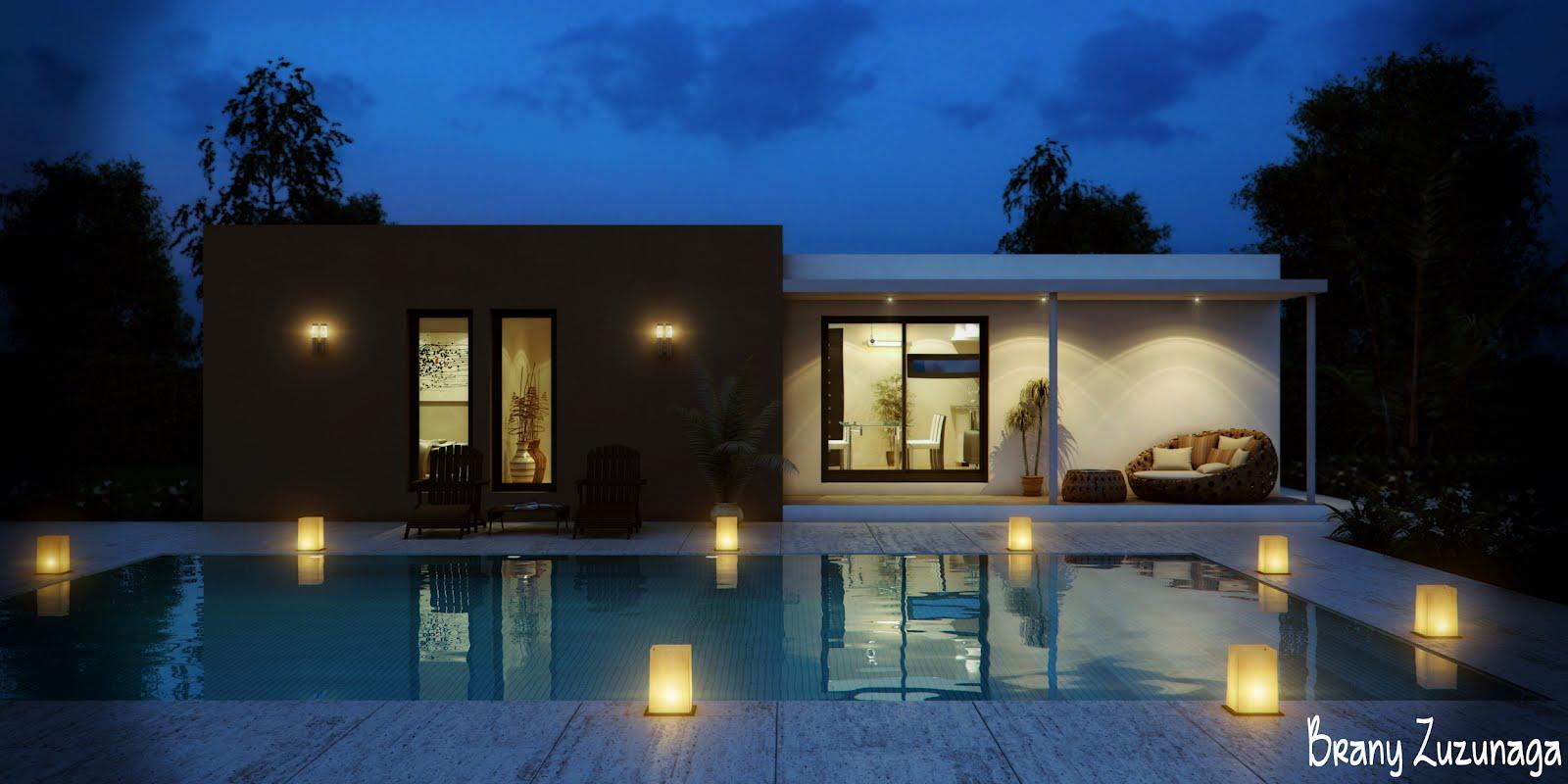 3d render animacion e infografia casa low cost moderna for Casas modernas renders