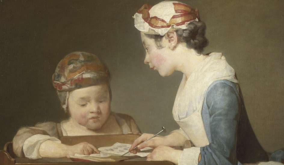 La joven maestra de escuela Chardin
