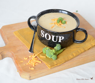 Cheesy Broccoli Soup in the Crock Pot