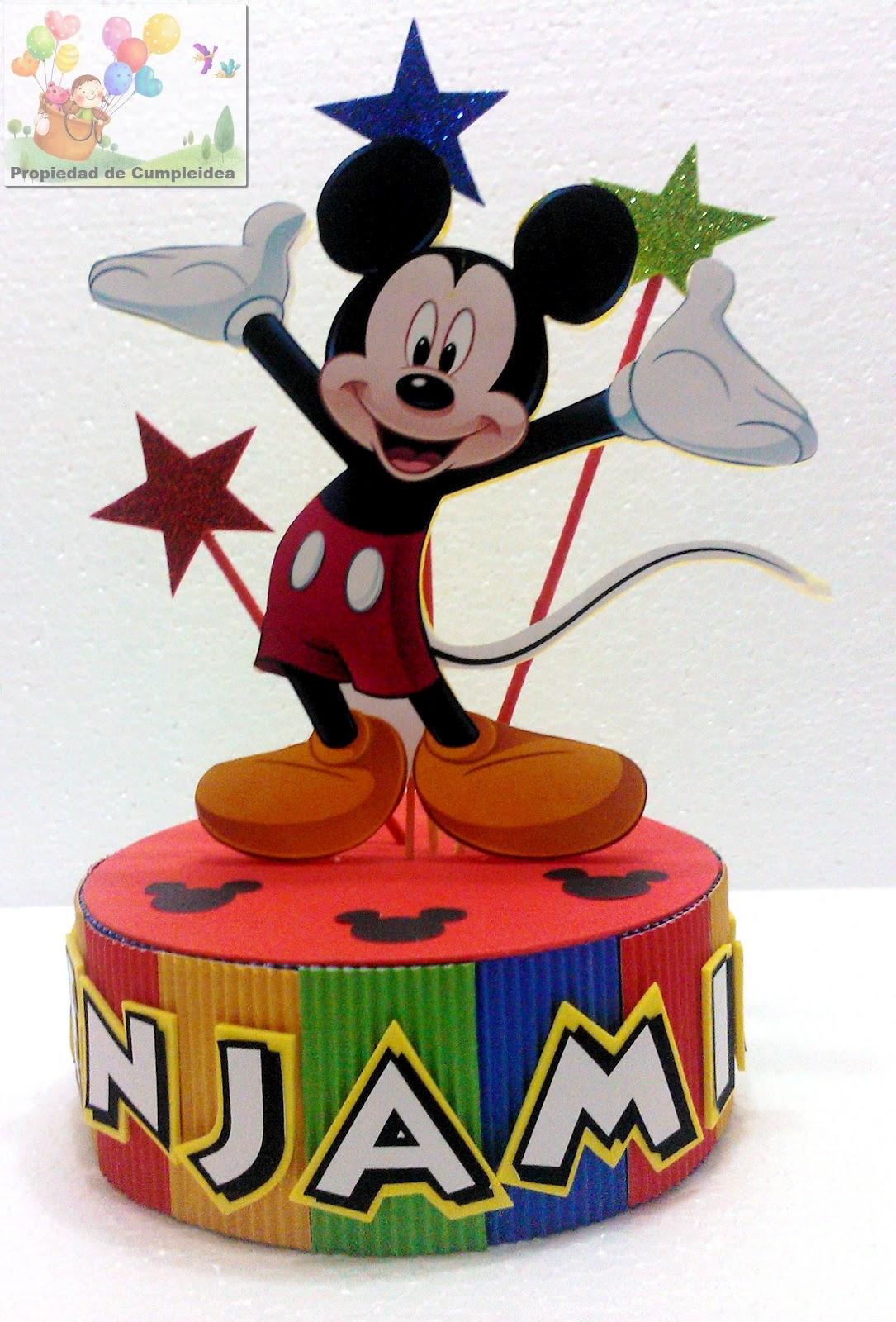 Decoraciones infantiles pack mickey mouse for Adornos navidenos mickey mouse