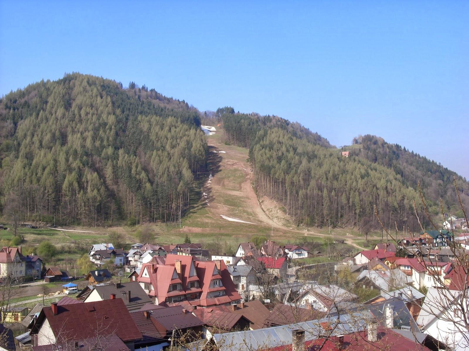 Szczawnica trasa narciarska wiosną