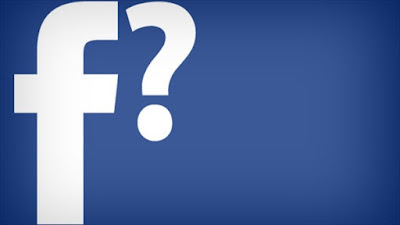 facebook logo and question mark picture