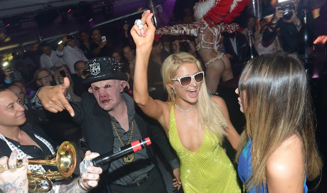 pictures of PARIS HILTON Partying in Cannes
