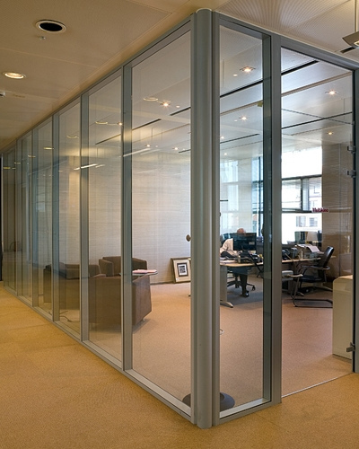 office renovation work tempered glass door and partition at selangor