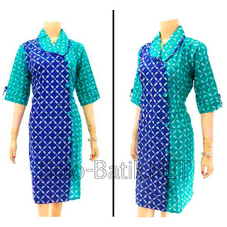 DB2978 Model Baju Dress Batik Modern Terbaru 2013