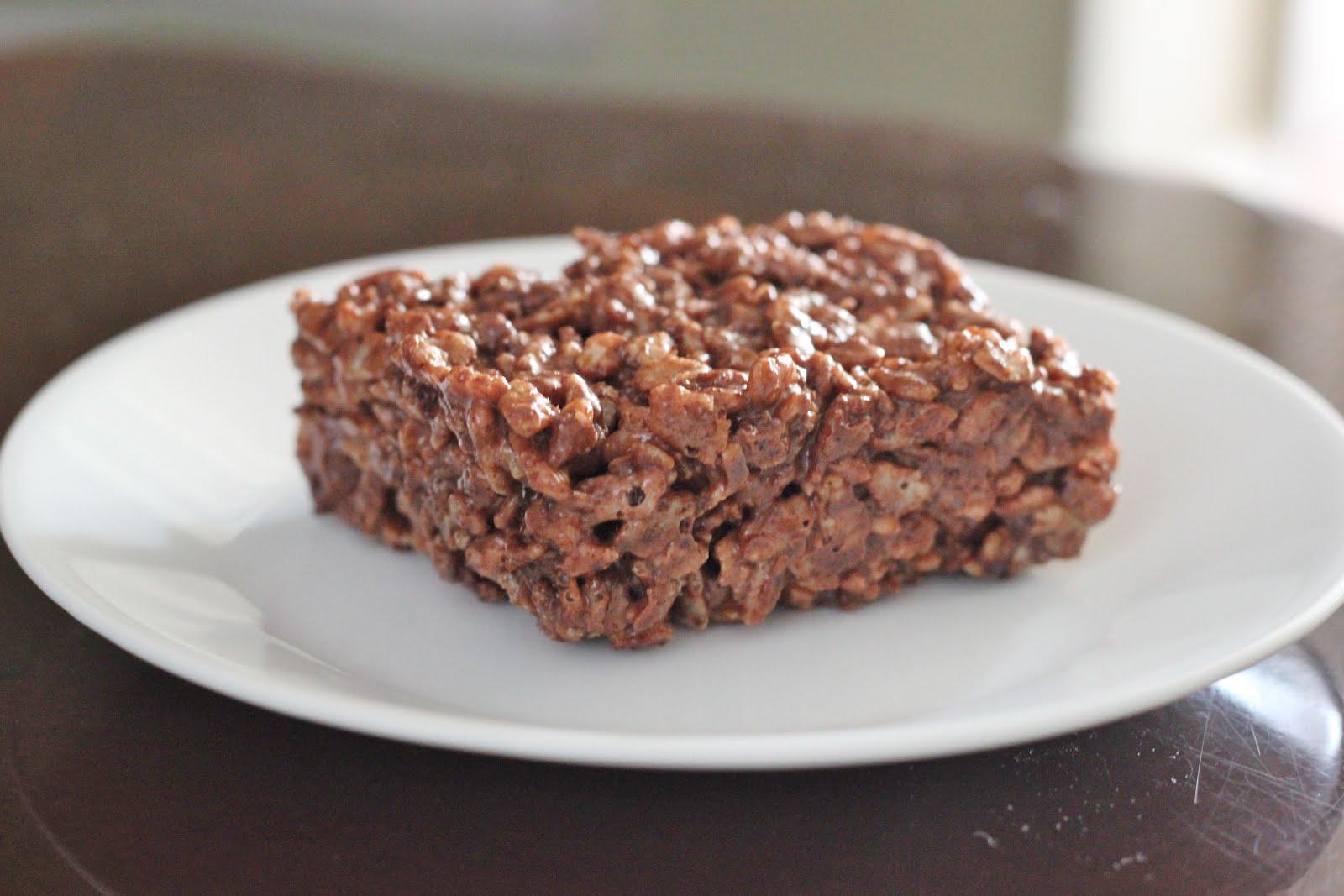 wrestled a cupcake once: Nutella Espresso Rice Krispy Treats