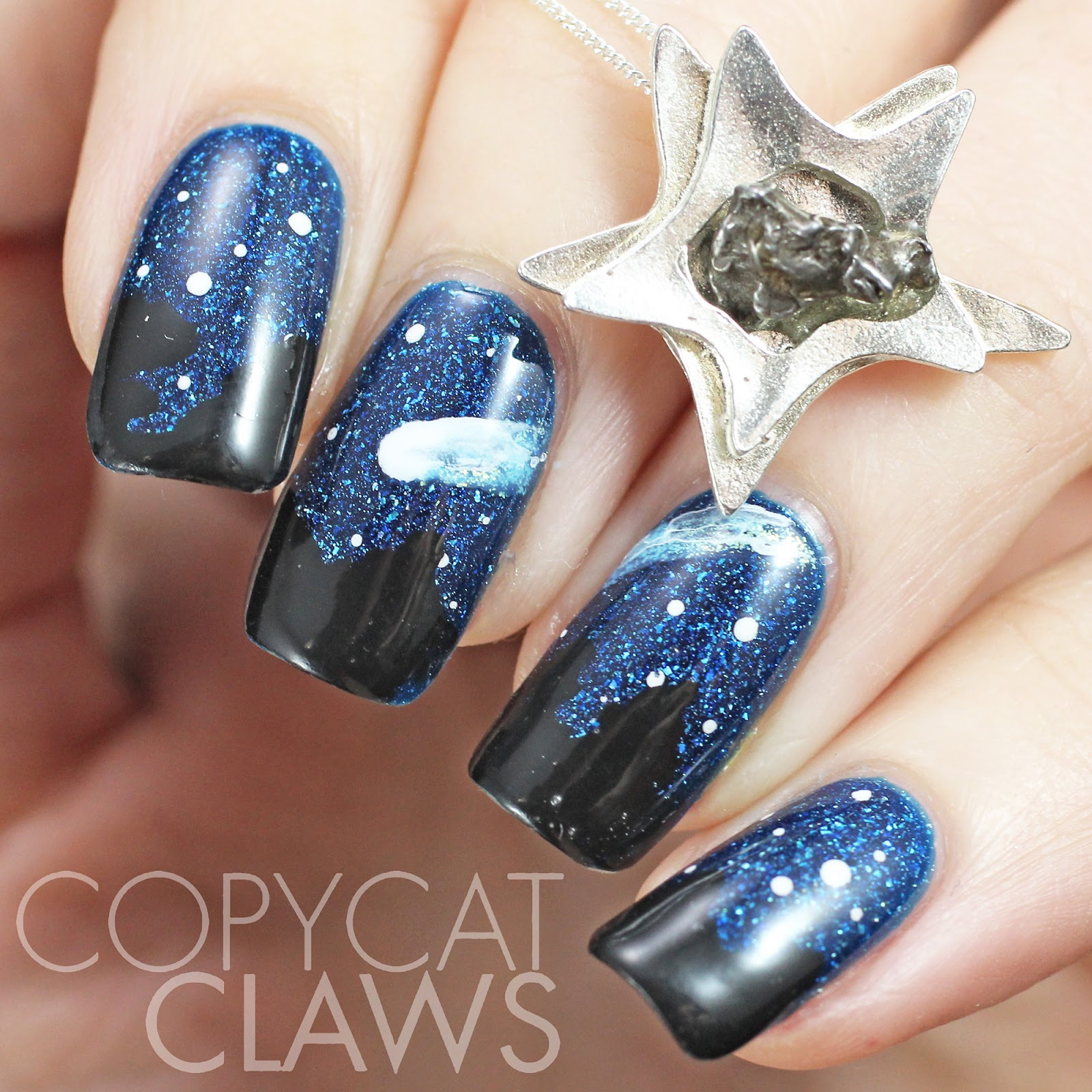 Copycat Claws: Necklace-Inpsired Meteorite Nail Art