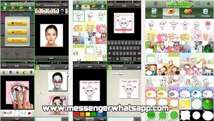 descarga WhatsApp Camera y Emoticons gratis