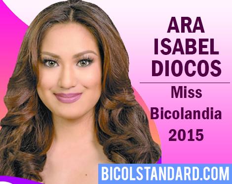 Ara Isabel Diocos is Miss Bicolandia 2015