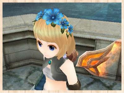 花カチューシャ 青1