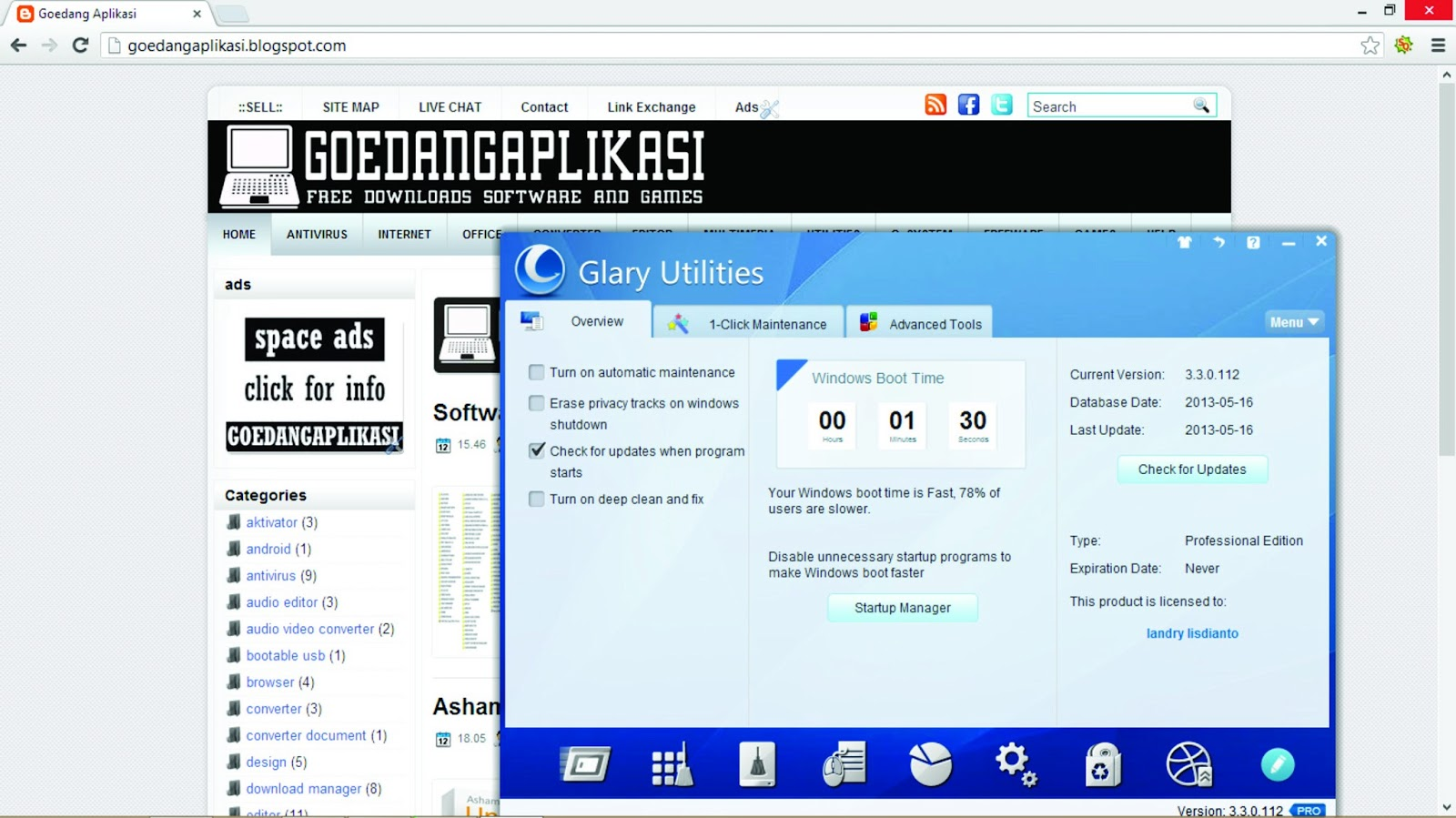 Glary Utilities Pro 3.3.0.112 Full Serial