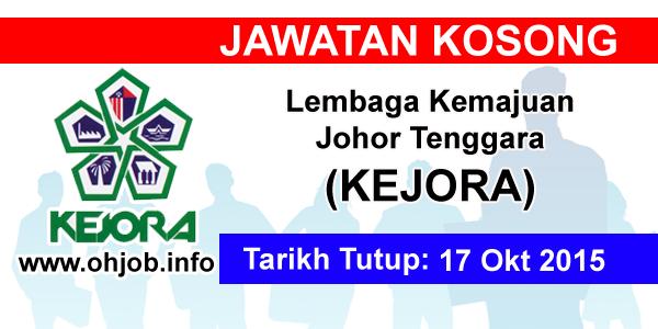Jawatan Kerja Kosong Lembaga Kemajuan Johor Tenggara (KEJORA) logo www.ohjob.info oktober 2015