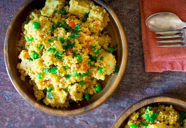http://www.yummly.com/recipe/Curried-Couscous-With-Roasted-Red-Pepper-Peas-And-Tofu-996817?columns=4&position=6%2F63