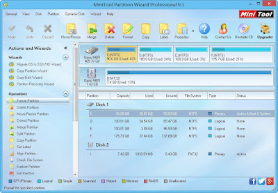 Free download MiniTool Partition Wizard Professional 9.1 Terbaru Full Version