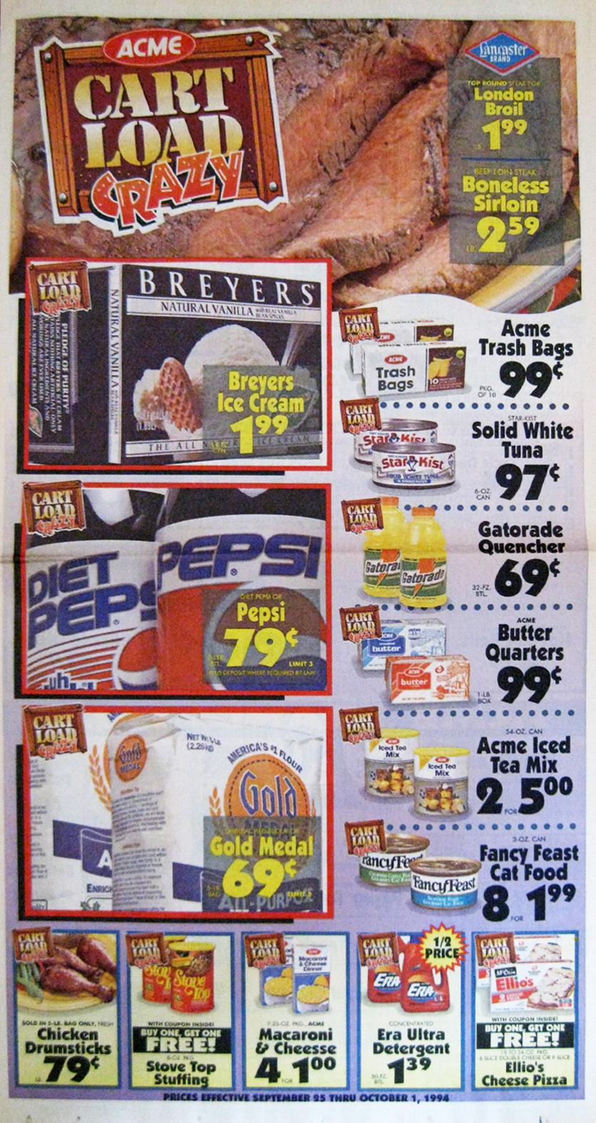 Acme Style Acme Cart Load Crazy Circular September 1994