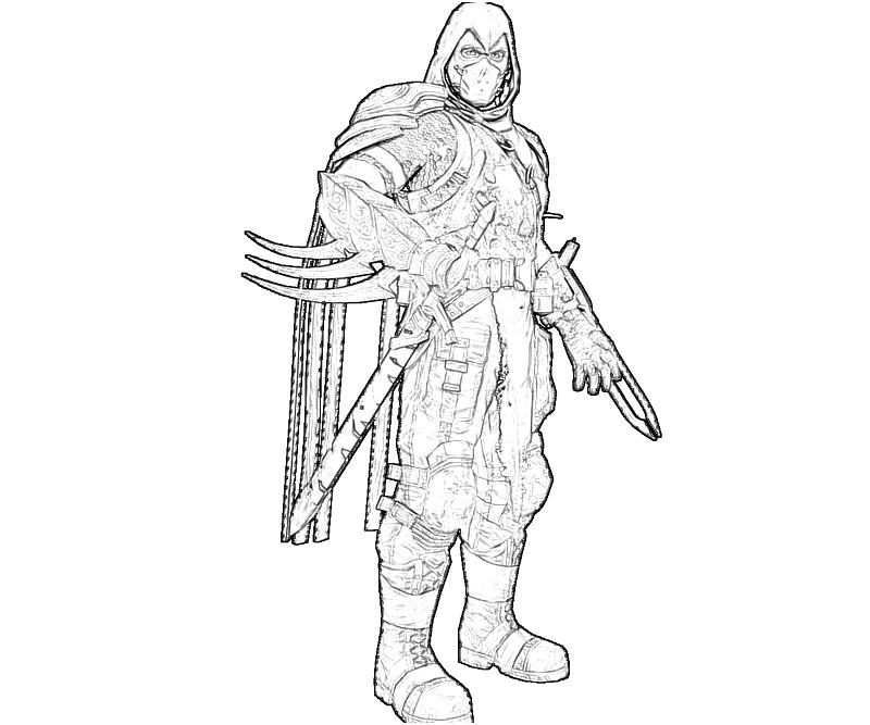 robin arkham city coloring pages