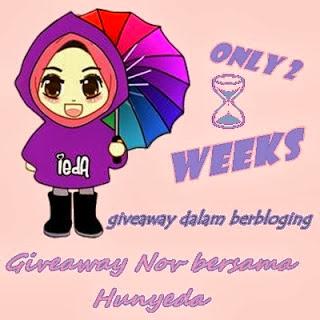 http://hunyieda.blogspot.com/2013/11/giveaway-nov-bersama-hunyeda.html