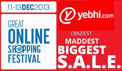 Great Online Shopping Festival by Google: Enjoy Flat 33% Off on Fashion Wear & Home Decor (Min cart Value Rs.1499) and Flat 10% Off on Appliances | Electronics | Mobiles etc at Yebhi