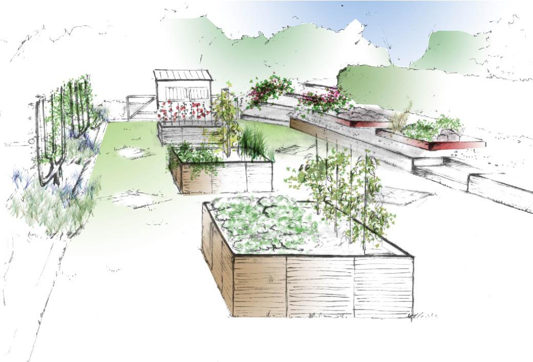 Jardin des arts projet jardin des arts 2013 for Croquis jardin