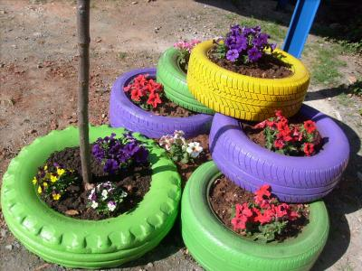 jardinera de neumticos