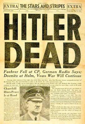 La muerte de Hitler, titular del 2 de mayo de 1945
