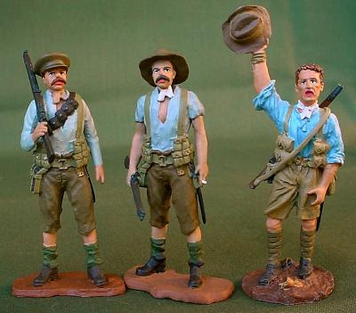 WETS WWI ANZACS at Gallipoli painted by John O'Brien. Master figures by Alan Caton & others.