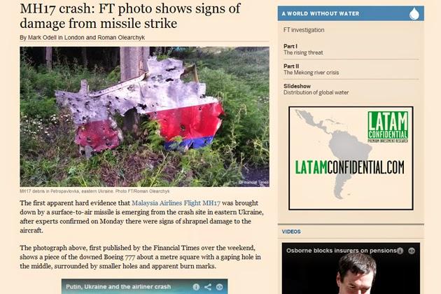 MH17 Ada Serpihan Bom Pada Cebisan Pesawat PAKAR