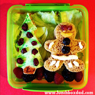 Gingerbread Man bento lunch