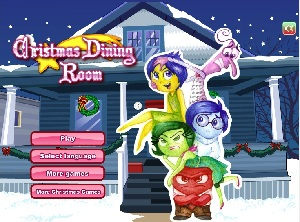 Inside Out Christmas Dining Room Decoration