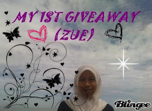 my 1st giveaway-zue
