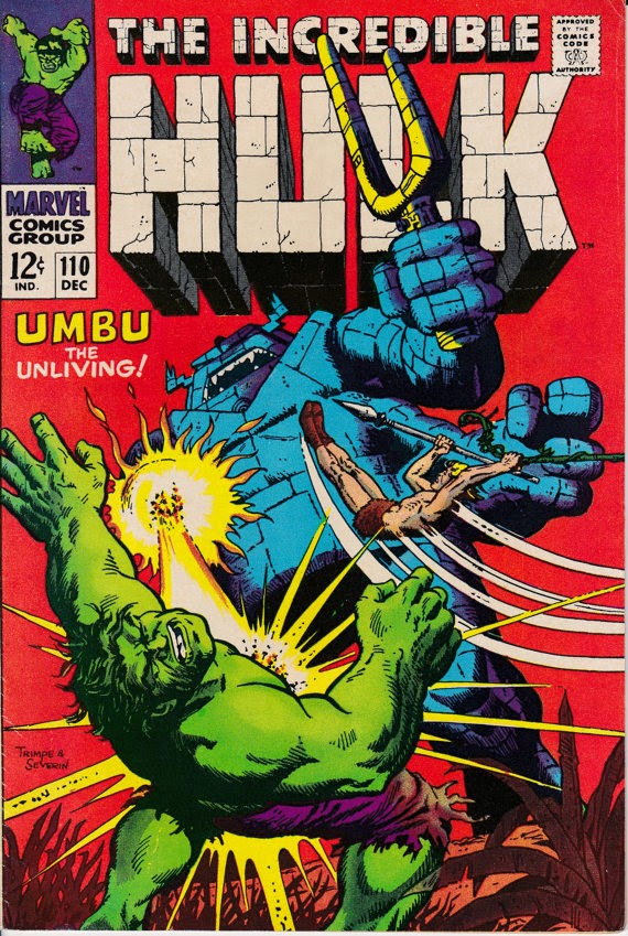 Incredible Hulk (1962-1999 1st Series) #110 - December 1968 Issue - Marvel Comics