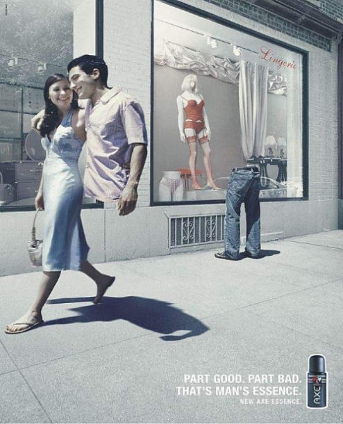 visual analysis of axe ads Semiotic/cultural revolution analysis – axepeace march 23, 2014 march 23, 2014 bam441 axe, the company for men's grooming products, is known for it's sexually suggestive ads and attempts to appeal to the young male demographic.