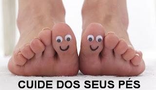 Cuide dos seus pés