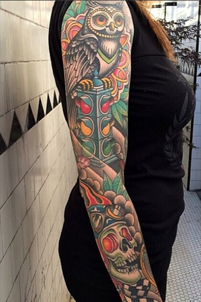 Tatuajes buhos brazo - Imagui