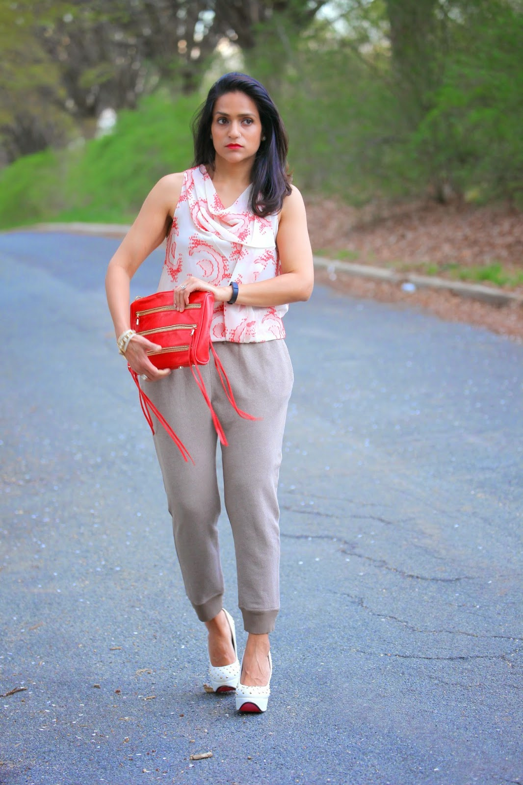 Top - DVF Tracks - Neiman Marcus  Shoes - ASOS  Bag - Rebecca Minkoff  Bracelet - Banana Republic Tanvii.com