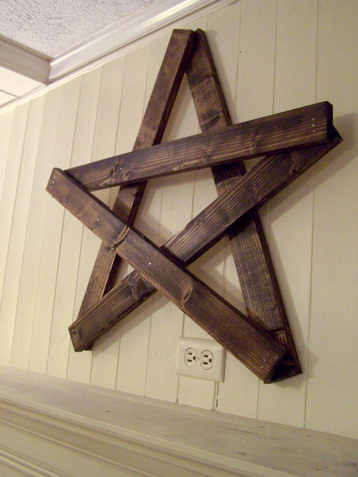 Wooden Star Wall Decor older and wisor: sylvester mcmonkey mcbean: a stars upon thars mantel