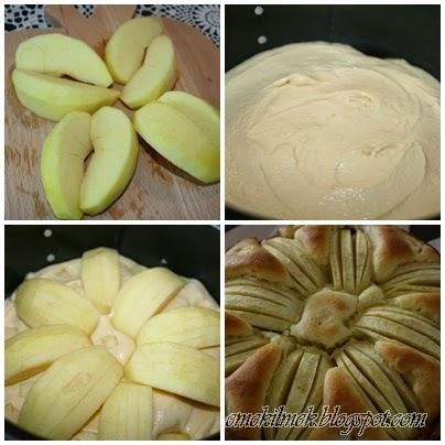 elmalı kek yapılışı