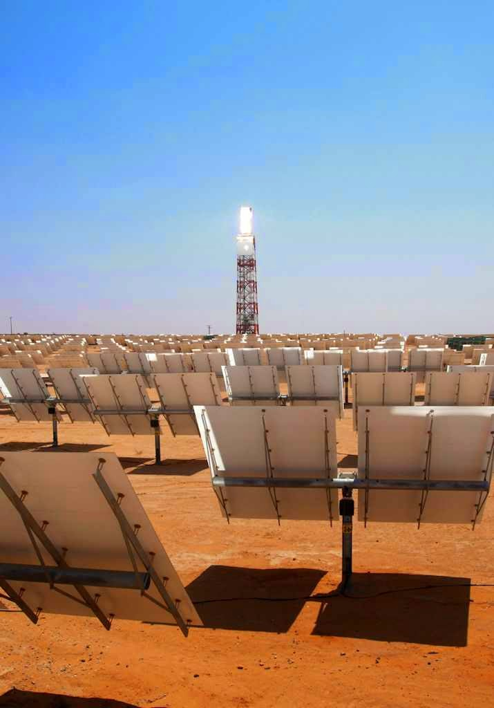 Detalhe do Sistema de Geração de Energia Solar Ivanpah
