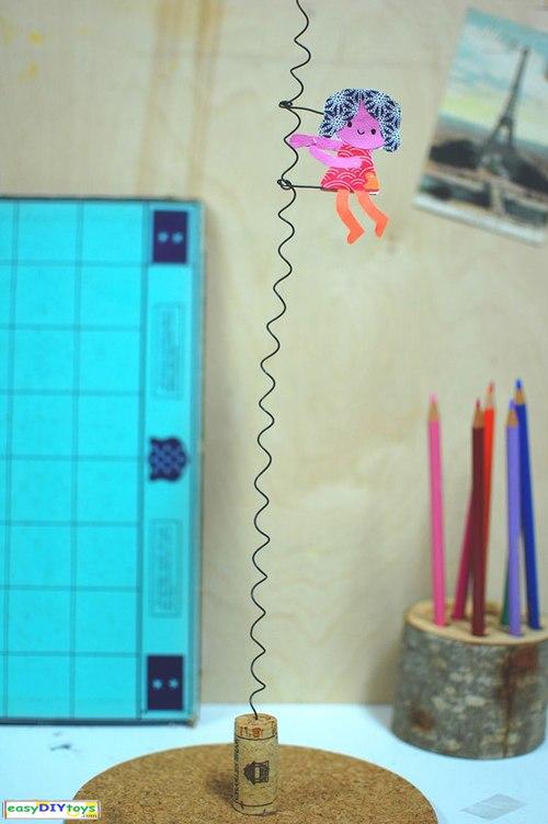 Handmade The swinging girl Toys