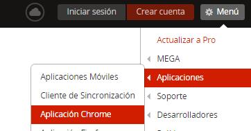 Instalar extension mega para Google Chrome