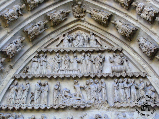 REIMS (51) - Cathédrale Notre-Dame (Extérieur - Bas-côté nord)