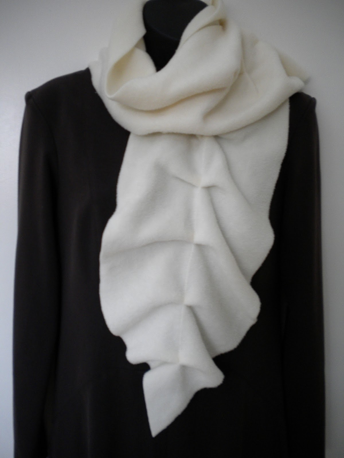 polar fleece scarf instructions
